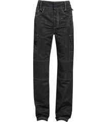 black moire cargo pants