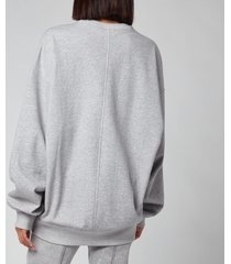 isabel marant etoile women's mindy sweatshirt - grey - eu40/uk12
