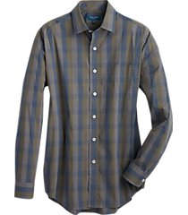 cole haan grand.øs. olive check sport shirt