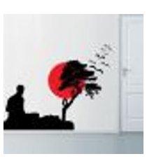 adesivo de parede homem meditando - m 60x80cm