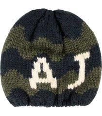 armani jeans navy green knit beanie u6469