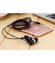audífonos bluetooth deportivos inalámbricos, nuevo st-007 estéreo auricular bajo de metal manos libres auricular auriculares de 3,5 mm (negro)