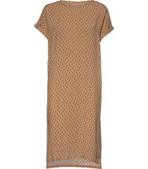 ameliasz ss dress knälång klänning brun saint tropez