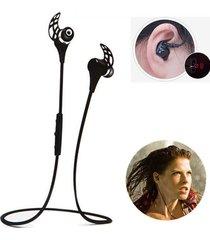 audífonos bluetooth manos libres inalámbricos, hv-805 sport audifonos bluetooth manos libres  auricular estéreo inalámbrico a prueba de sudor correa de cuello headset (negro)