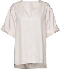 flora blouse blouses short-sleeved crème filippa k