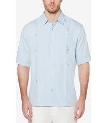 cubavera men's double tuck short-sleeve shirt