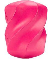 bottega veneta textured-effect clutch - pink