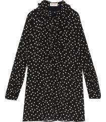 polka dot ruffle detail sheer mini dress