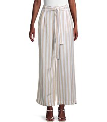 rails women's striped linen-blend wide-leg pants - canyon stripe - size xs