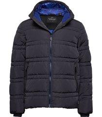 classic hooded primaloft jacket gevoerd jack blauw scotch & soda