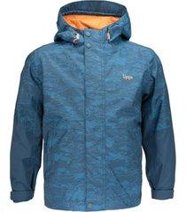 chaqueta torreto b-dry print azul noche lippi