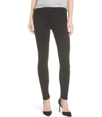 women's mother 'the looker' mid rise skinny jeans, size 28 - black