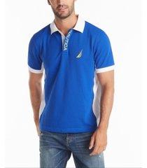 nautica men's classic-fit performance side panel polo shirt