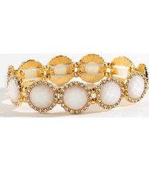 kate circle stretch bracelet - ivory