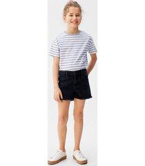 denim shorts met gerafelde zomen