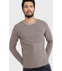 sweater jack & jones marrón - calce regular