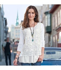 lace overlay top petite