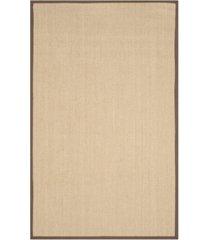 safavieh natural fiber maize and brown 6' x 9' sisal weave area rug