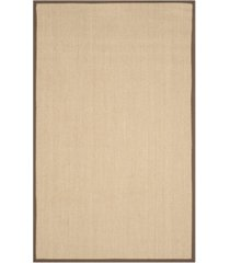 safavieh natural fiber maize and brown 6' x 9' sisal weave rug