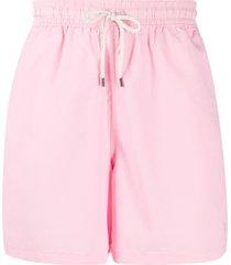 polo ralph lauren short de natação com ajuste no cós - rosa