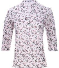 blusa 3/4 ramilletes color negro, talla xs
