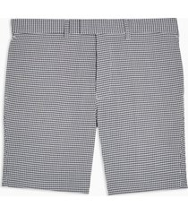 mens grey blue and white seersucker woven tailored skinny shorts