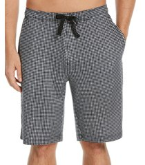 perry ellis portfolio men's gingham check pajama shorts