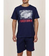 polo shirt korte mouw admas for men pyjamashorts t-shirt força barça admas