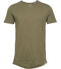 konrad slub s/s tee t-shirts short-sleeved grön gabba