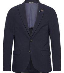 classic half-lined summer seersucker blazer blazer kavaj blå scotch & soda