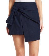 tie mini wrap skirt