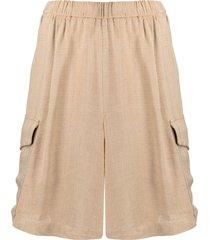 barena elasticated wide-leg shorts - neutrals