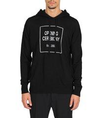box logo knit hoodie