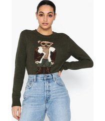 polo ralph lauren aviator polo bear knit sweater stickade tröjor