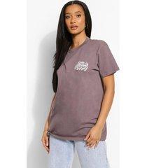 oversized t-shirt met borstopdruk, charcoal