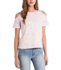 vince camuto tie-dyed cold-shoulder top