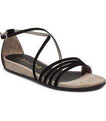 alepo_ks shoes summer shoes flat sandals svart unisa