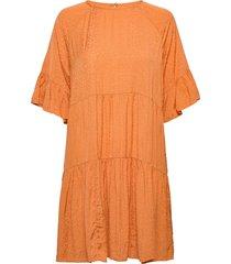 2nd hunter thinktwice jurk knielengte oranje 2ndday