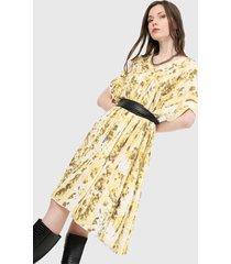 vestido amarillo-blanco paris district