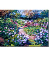 "david lloyd glover 'natures garden' canvas art - 32"" x 24"""