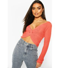 off shoulder sweater, coral