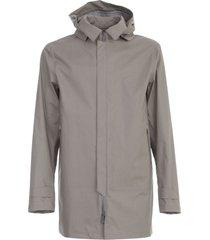 herno cotton waterproof coat w/detachable hood