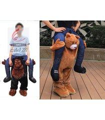 hotcarry me piggy back ride on novelty teddy bear mascot new fancy dress costume