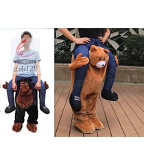 hotcarry me piggy back ride on novelty teddy bear mascot new fancy dress costume
