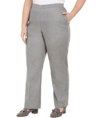 alfred dunner plus size well red sateen pull-on pants