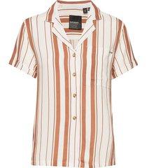 arizona vintage shirt kortärmad skjorta orange superdry