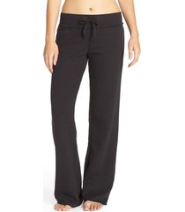 women's nordstrom lingerie 'lazy mornings' lounge pants, size xx-small - black