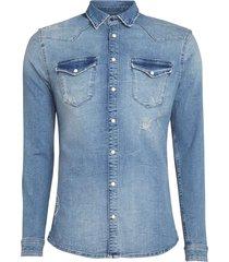 blue denim shirt ss19 blue