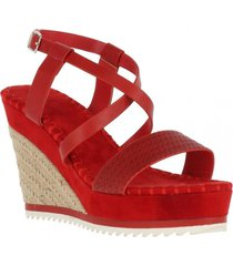 sandalia basic rojo we love shoes