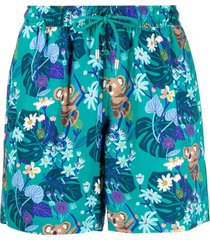 bluemint tropical-print drawstring swim shorts - green
